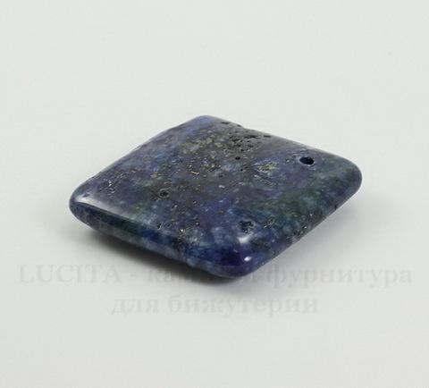 Подвеска Ляпис Лазурит (прессов., тониров) (цвет - темно-синий) 30х7,5 мм №142