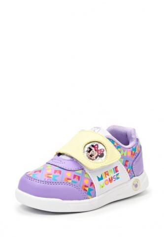 Кроссовки Минни Маус (Minnie Mouse) на липучке для девочек, цвет сиреневый. Изображение 2 из 8.