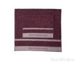 Набор полотенец 2 шт Trussardi Golf сливовый