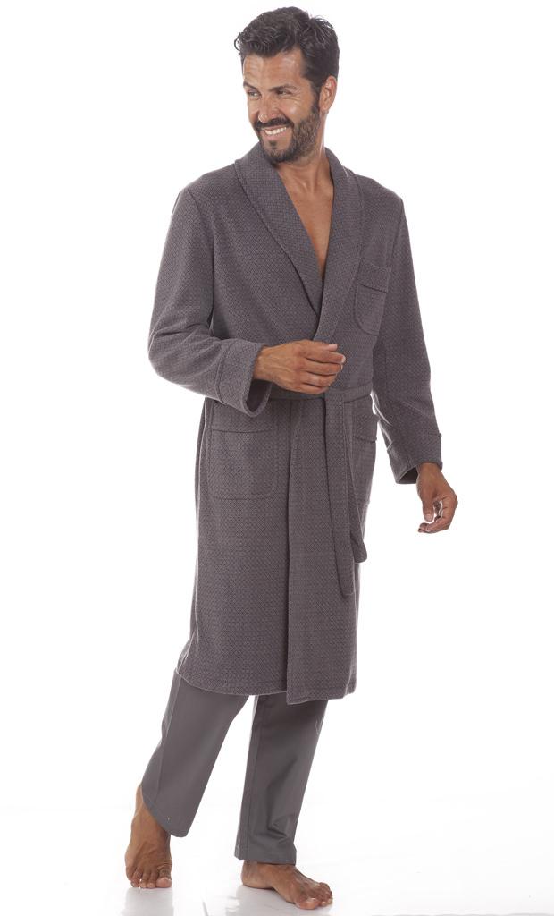 Теплый мужской халат B&B (Мужские халаты)