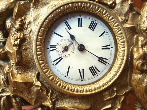 """Часы каминные """"Медвежья охота"""". Арт. 19-0012"""
