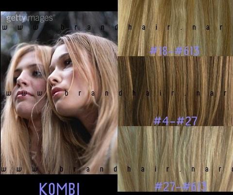 Наборы long цвет #18-#613- меллированые волосы 60 см-Вес набора 140 грамм