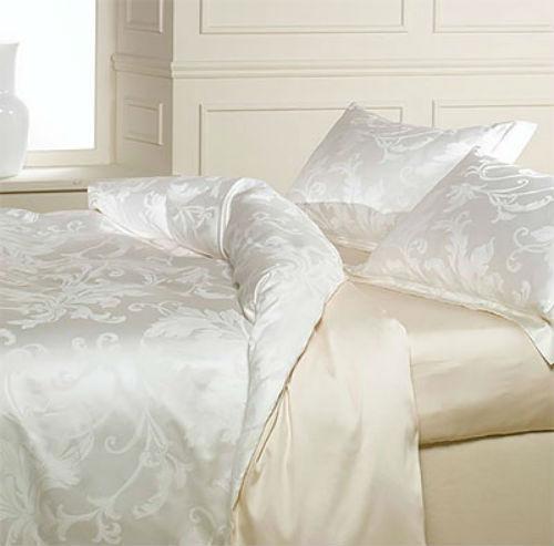Постельное белье 2 спальное евро Caleffi Parsifal белое