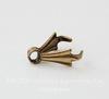 Винтажный декоративный элемент - держатель для кулона 10 мм (оксид латуни)