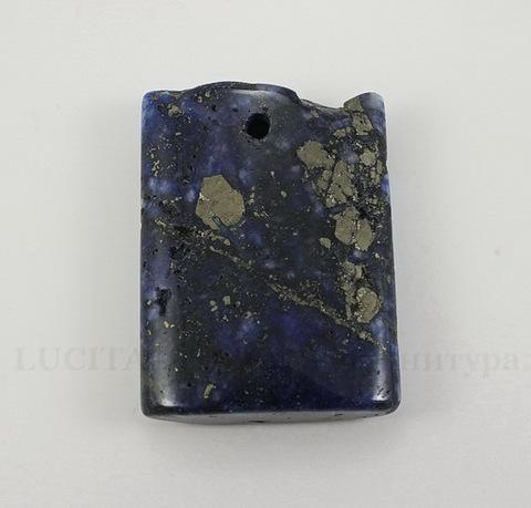 Подвеска Ляпис Лазурит (прессов., тониров) (цвет - темно-синий) 36х26,4х8,3 мм №124