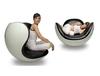 кресло placentero lounge ( кожа)