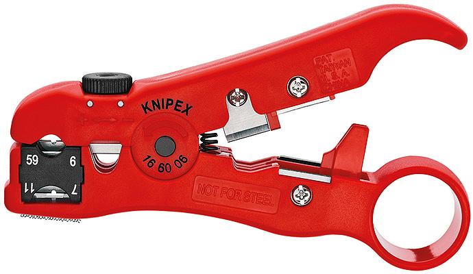 Инструмент для снятия изоляции с коаксиальных кабелей Knipex KN-166006SB