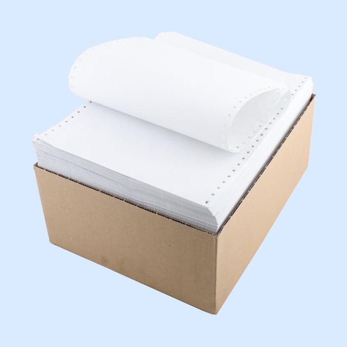 Бумага ЛПУ 240 формат А5 (240х152,4х2000л) в стопе, c перф.