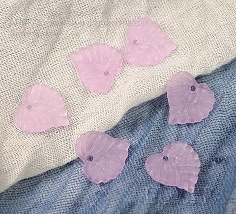 Акриловый листик фиолетовый 15х14 мм ,10 штук ()