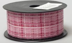 Лента Florima 4см*9м розовая в клетку