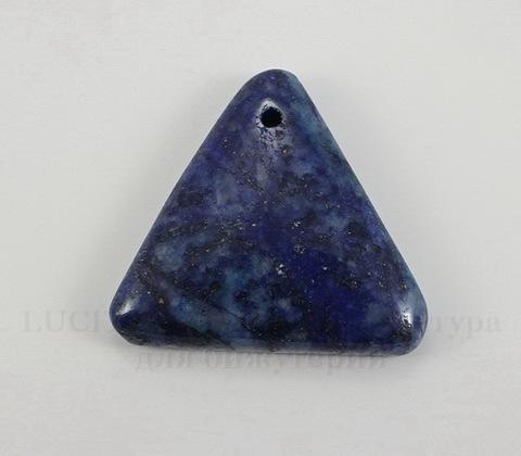 Подвеска Ляпис Лазурит (прессов., тониров) (цвет - темно-синий) 31,2х34х7,5 мм №117