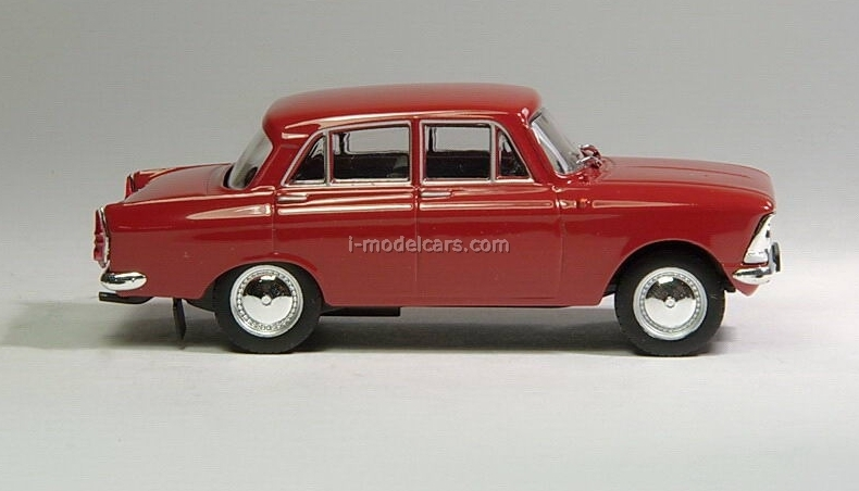 Moskvich-408 dark red 1:43 DeAgostini Auto Legends USSR #12
