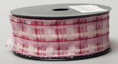 Лента Florima 4см*9м светло-розовая в клетку