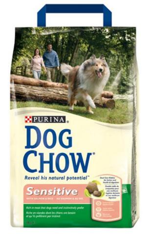 Dog Chow Dog Для чувств. собак с лососем и рисом (sensitive) 2,5 кг