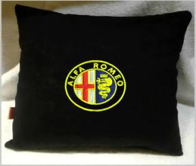 Подушка автомобильная с логотипом ALFA ROMEO