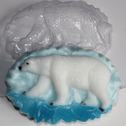 Белый медведь Форма для мыла
