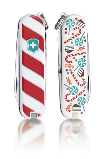 "Нож-брелок Victorinox Classic LE 2014, 58 мм, 7 функций, ""Lollipop"""