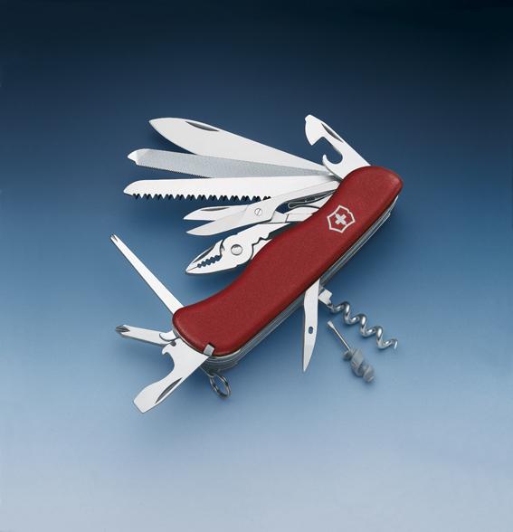 Швейцарский нож Victorinox WorkChamp, 111 мм, 21 функ, красный  (0.9064)