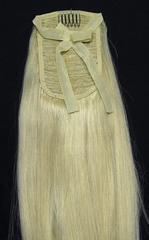 Накладной хвост оттенок #613-блонд-длина 70 см