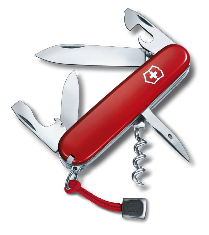 Офицерский нож SPARTAN 91 мм. / красный (шт.) со шнурком и индивидуальным номером, 1.3603.L12