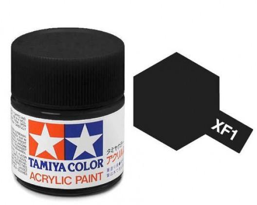 XF-1 Краска Tamiya, Черный Матовый (Flat Black), акрил 10мл