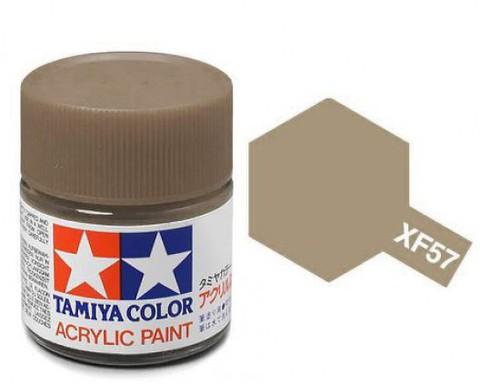 XF-57 Краска Tamiya, Кожаный Матовый (Buff), акрил 10мл
