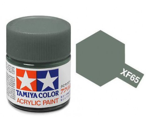 XF-65 Краска Tamiya, Серый Полевой Матовый (Field Grey), акрил 10мл