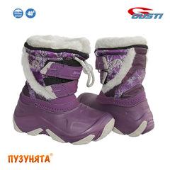 Детские зимние сапоги для девочки NIVAL Nova Purple-Grey
