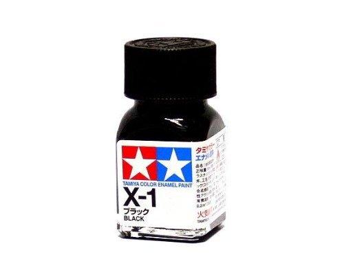 X-1 Краска Tamiya Черная Глянцевая (Black), эмаль 10мл