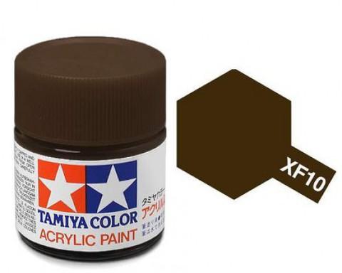 XF-10 Краска Tamiya, Коричневый Матовый (Flat Brown), акрил 10мл