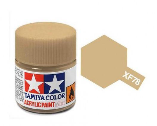 XF-78 Краска Tamiya, Деревянный Палубный Матовый (Wooden Deck Tan), акрил 10мл