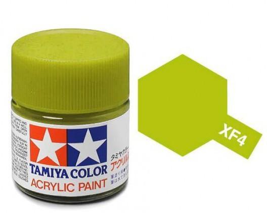 XF-4 Краска Tamiya, Желто-зеленый Матовый (Yellow Green), акрил 10мл