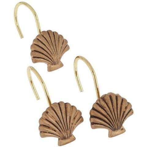 Набор из 12 крючков для шторки Seaside Gold от Carnation Home Fashions