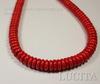 Бусина Говлит (искусств, тониров), рондель, цвет - красный, 11х4 мм, нить ()