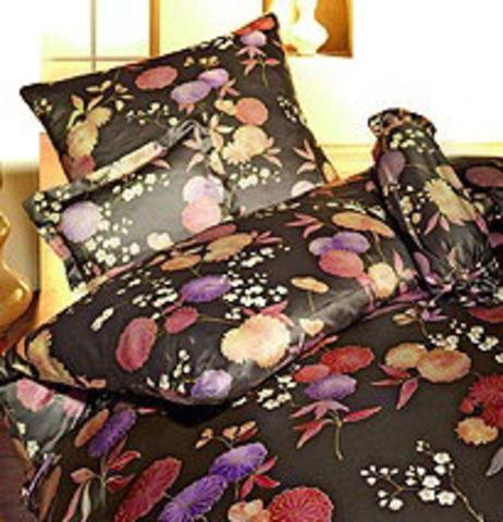 Элитный пододеяльник Kimono коричневый от Elegante