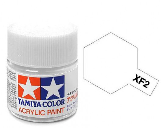XF-2 Краска Tamiya, Белый Матовый (Flat White), акрил 10мл