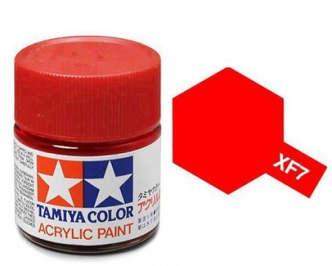XF-7 Краска Tamiya, Красный Матовый (Flat Red), акрил 10мл