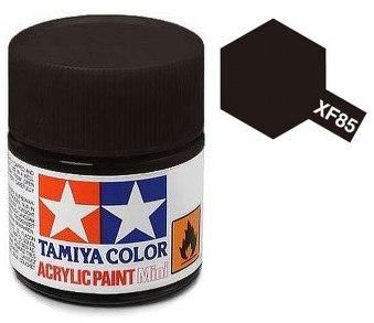 XF-85 Краска Tamiya, Черный Шинный Матовый (Rubber Black), акрил 10мл