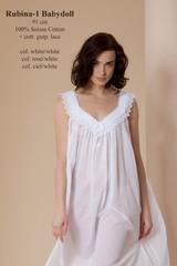 Элитная ночная сорочка Rubina-1 BD ciel/white от Celestine