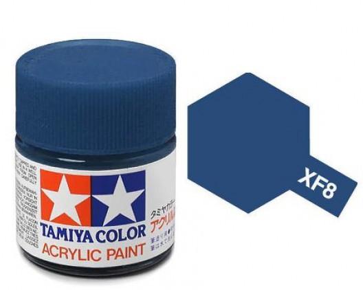 XF-8 Краска Tamiya, Синий Матовый (Flat Blue), акрил 10мл