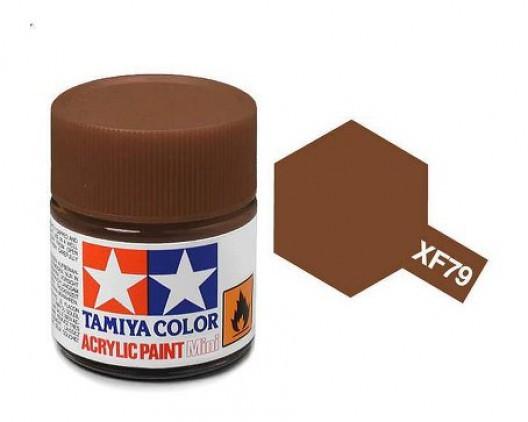 XF-79 Краска Tamiya, Линолеум Палубный Коричневый Матовый (Linoleum Deck Brown), акрил 10мл