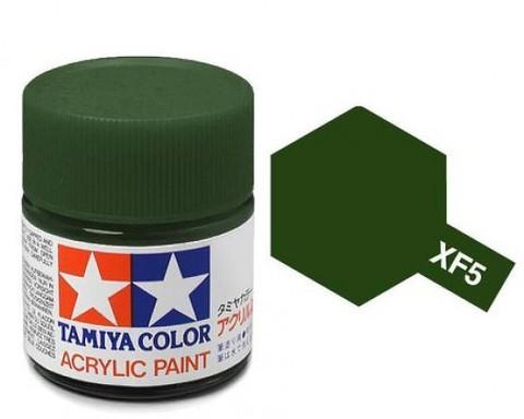 XF-5 Краска Tamiya, Зеленый Матовый (Flat Green), акрил 10мл
