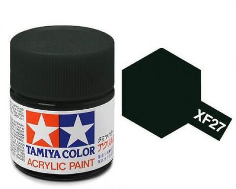 XF-27 Краска Tamiya, Черно-зеленый Матовый (Black Green), акрил 10мл