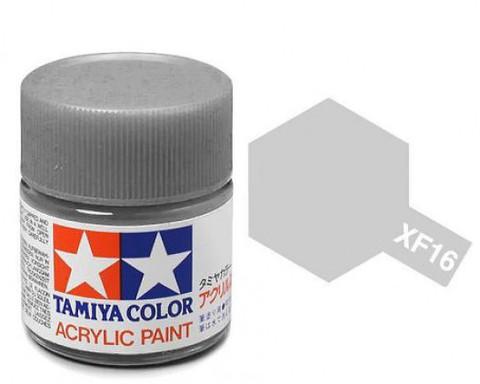 XF-16 Краска Tamiya, Алюминиевый Матовый (Flat Aluminium), акрил 10мл