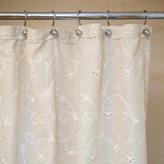 Шторка для ванной 200х240 Arti-Deco Embroidery 2803 Mix + Liso Beige