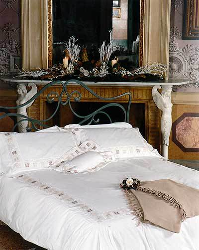 Постельное белье 2 спальное евро Cassera Casa Miele di Arancio белое
