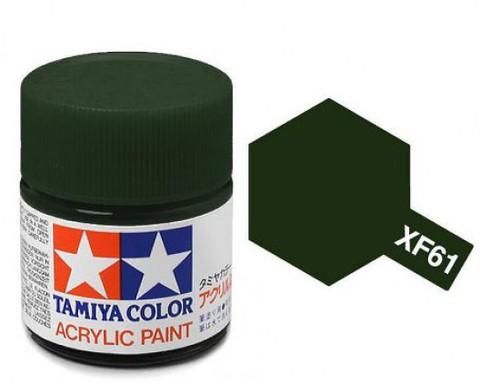XF-61 Краска Tamiya, Темно-зеленый Матовый (Dark Green), акрил 10мл