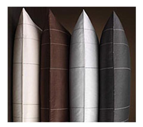 Элитная наволочка Line коричневая от Elegante