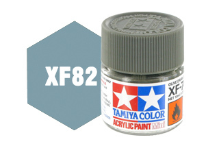 XF-82 Краска Tamiya, Океанский Серый 2 Матовый (Ocean Gray 2 RAF), акрил 10мл