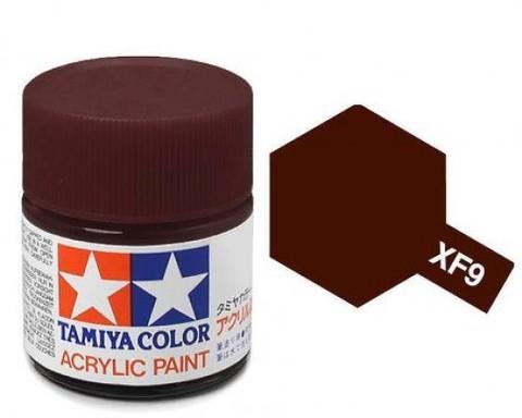 X-9 Краска Tamiya, Коричневый Глянцевый (Brown), акрил 10мл